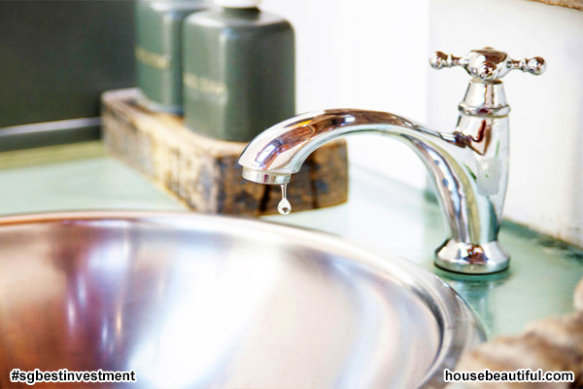 Clogged and Leaky Faucet - (istock via housebeautiful.com)