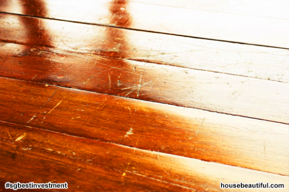 Scratched and Creaky Floorboards (istock via housebeautiful.com)
