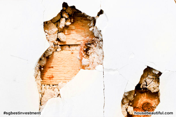 Holes or Cracks in Plaster - (istock via housebeautiful)
