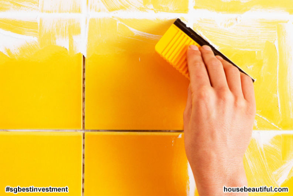 How to Grout Tile - (istock via housebeautiful.com)
