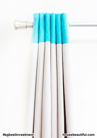 Hanging Curtains - (istock via housebeautiful.com)